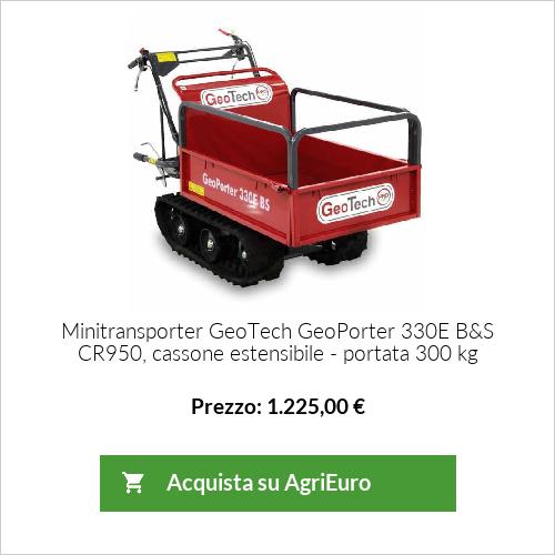Minitransporter GeoTech GeoPorter 330E B&S CR950, cassone estensibile - portata 300 kg