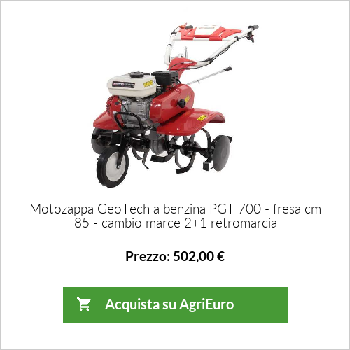 Motozappa GeoTech a benzina PGT 700 - fresa cm 85 - cambio marce 2+1 retromarcia