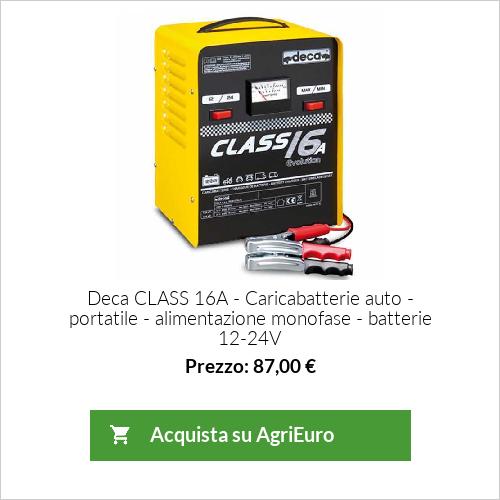 Caricabatterie auto Deca CLASS 16A - portatile - alimentazione monofase - batterie 12-24V