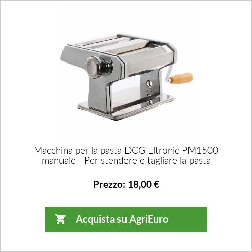 Macchina per la pasta DCG Eltronic PM1500 manuale - Per stendere e tagliare la pasta