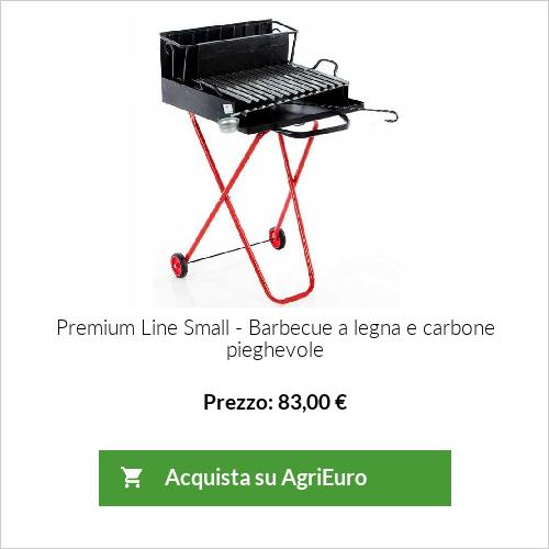 Barbecue a legna con griglia inox 45x34 dotata di raccogli sugo - pieghevole e portatile