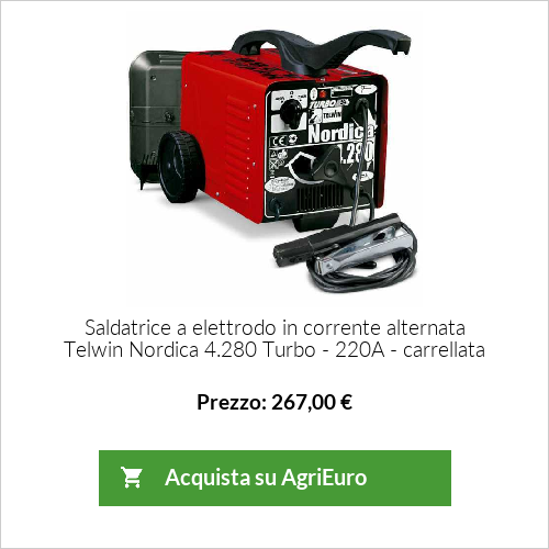 Saldatrice a elettrodo in corrente alternata Telwin Nordica 4.280 Turbo - 220A - carrellata