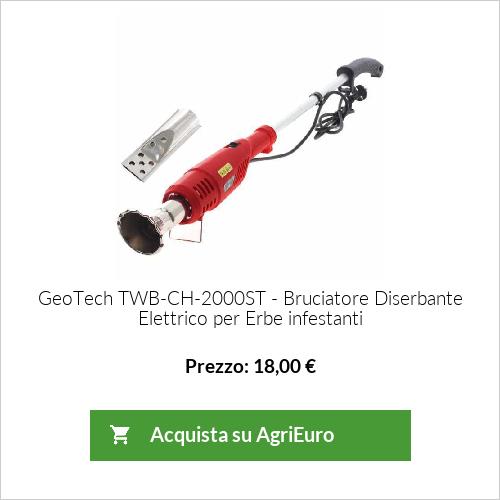 Bruciatore Diserbante, Elettrico Nebulizzatore per Erbe infestanti GeoTech TWB-CH-2000ST