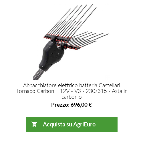 Abbacchiatore elettrico batteria Castellari Tornado Carbon L V3 230/330 - Asta in carbonio