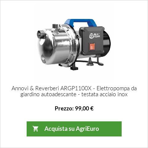 Elettropompa da giardino autoadescante Annovi & Reverberi ARGP1100X - testata acciaio inox