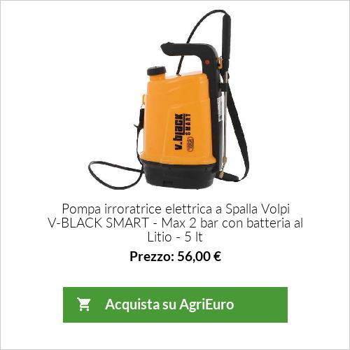 Pompa elettrica a Spalla 5 lt V-BLACK SMART - Max 2 bar con batteria al Litio