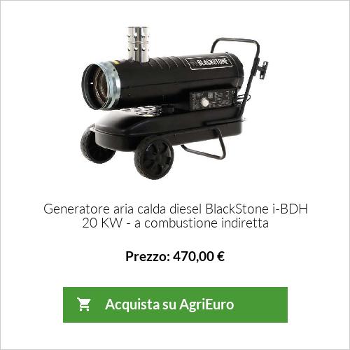 Generatore aria calda diesel Blackstone i-BDH 20 KW - a combustione indiretta