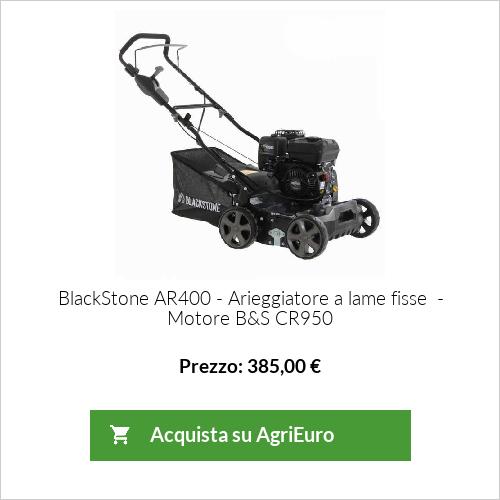 Arieggiatore e Scarificatore a scoppio Blackstone AR400-BS950 - Motore B&S CR950 - 7 HP