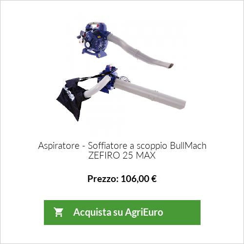 Aspiratore - Soffiatore BullMach ZEFIRO 25 MAX - motore a scoppio - 25,4 cc