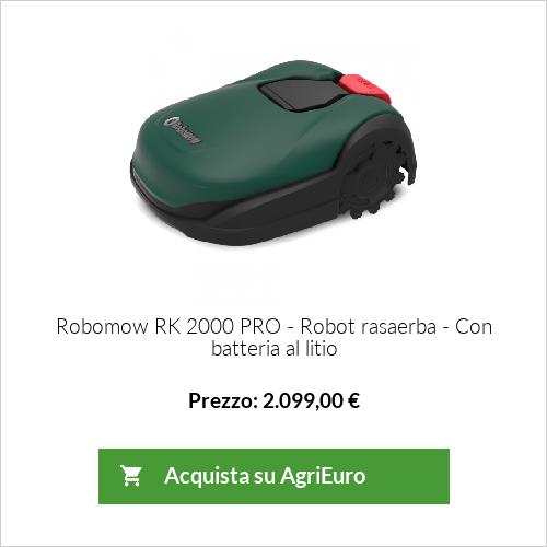 Robot rasaerba Robomow RK 2000 PRO - robot tosaerba con batteria al litio